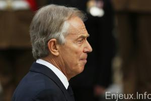Former British Prime Minister Tony Blair arrives for the Afghanistan service of commemoration at St Paul's Cathedral in London