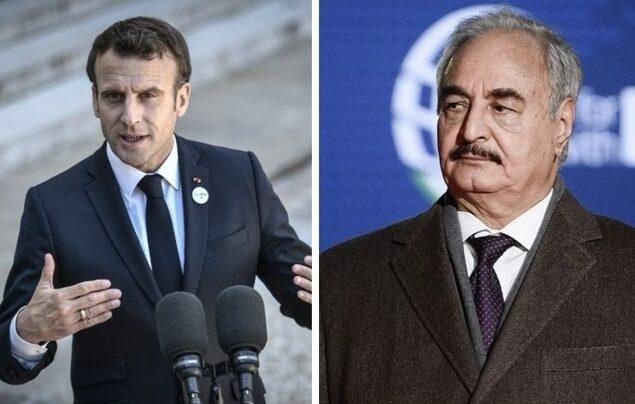 Rencontre le président français Emmanuel Macron et le maréchal Khalifa Haftar
