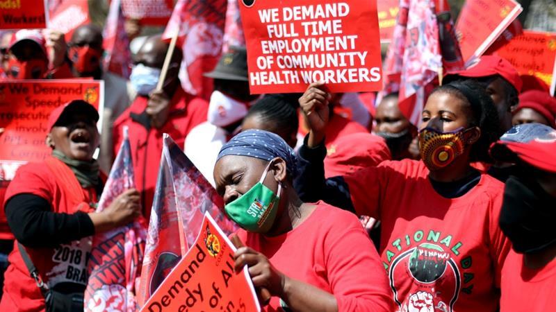 Les professionnels de santé sud-africains réclament des meilleures conditions de travail et une revalorisation salariale