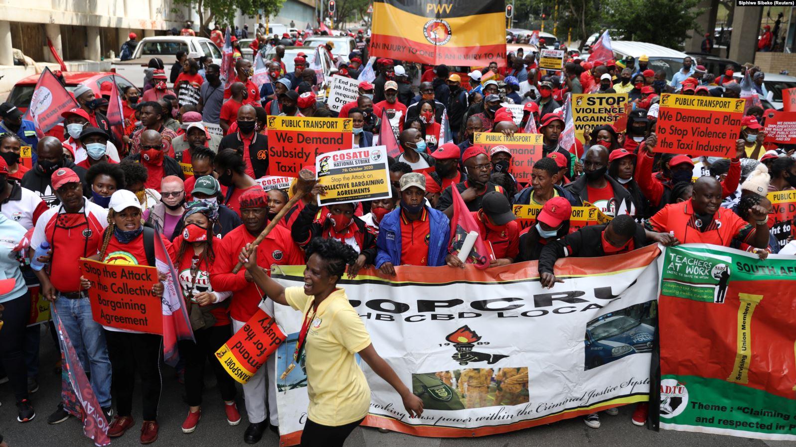 Les syndicats lancent une grève générale en Afrique du Sud