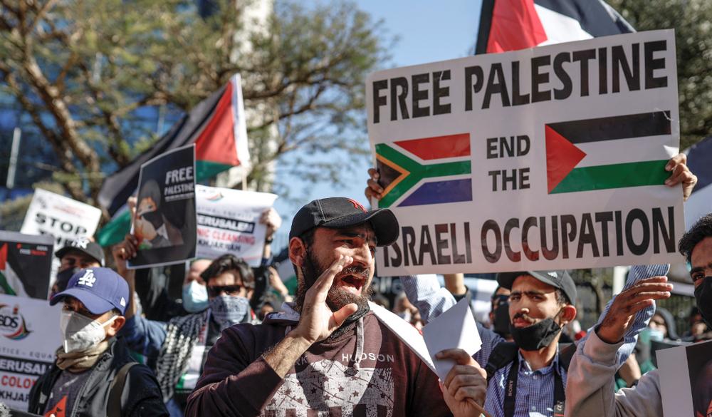 Des manifestants sud-africains appellent à la «fin de l'occupation illégale de la Palestine» par Israël