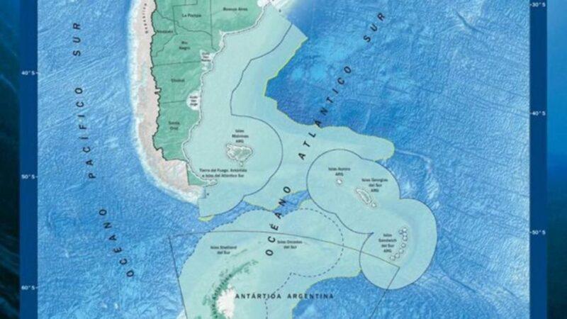 Le Chili: Revendication d'une partie du plateau continental argentin