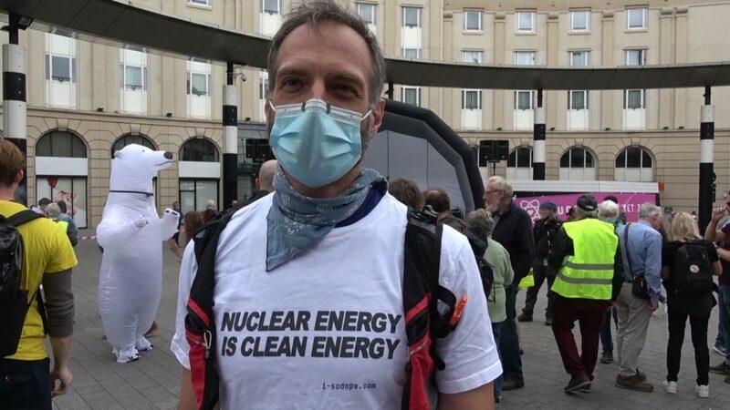 La Belgique: Manifestation pour le maintien du nucléaire